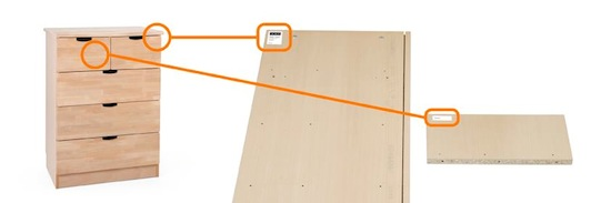 Stokke® Dresser serial number location