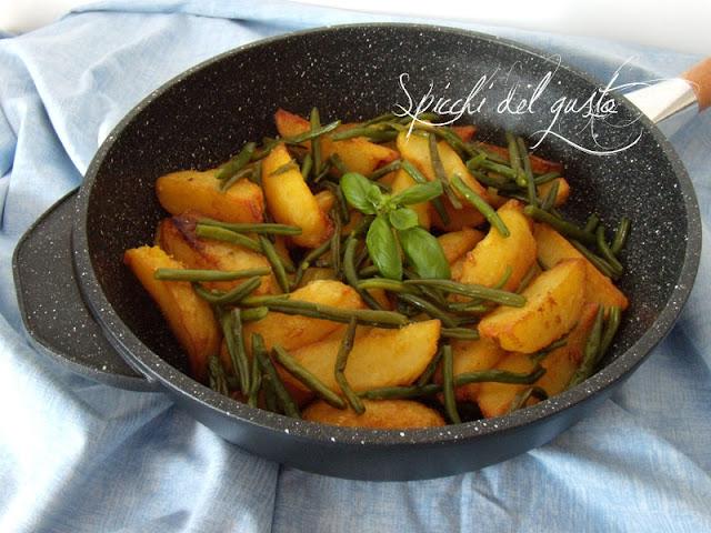 patate con fagiolini verdi