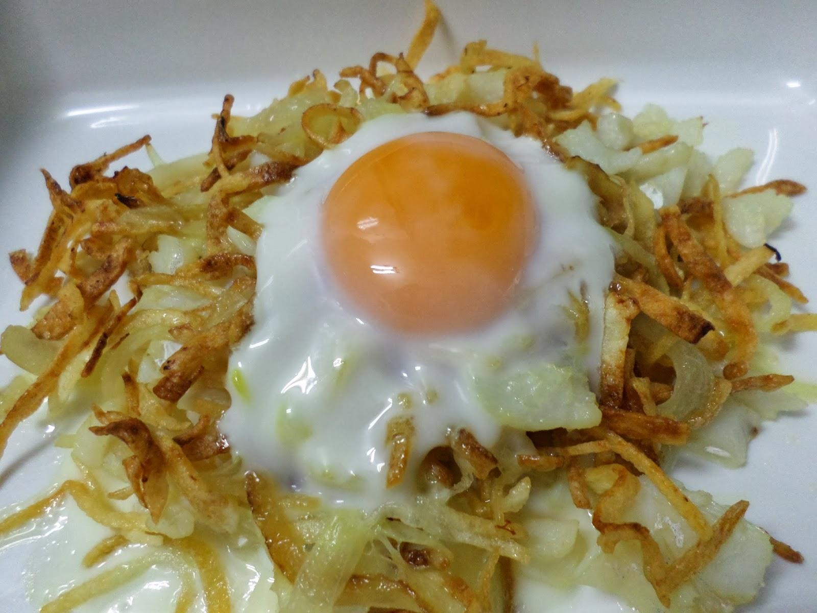 Mi cocina bacalao con patatas paja y huevo for Cocina bacalao con patatas