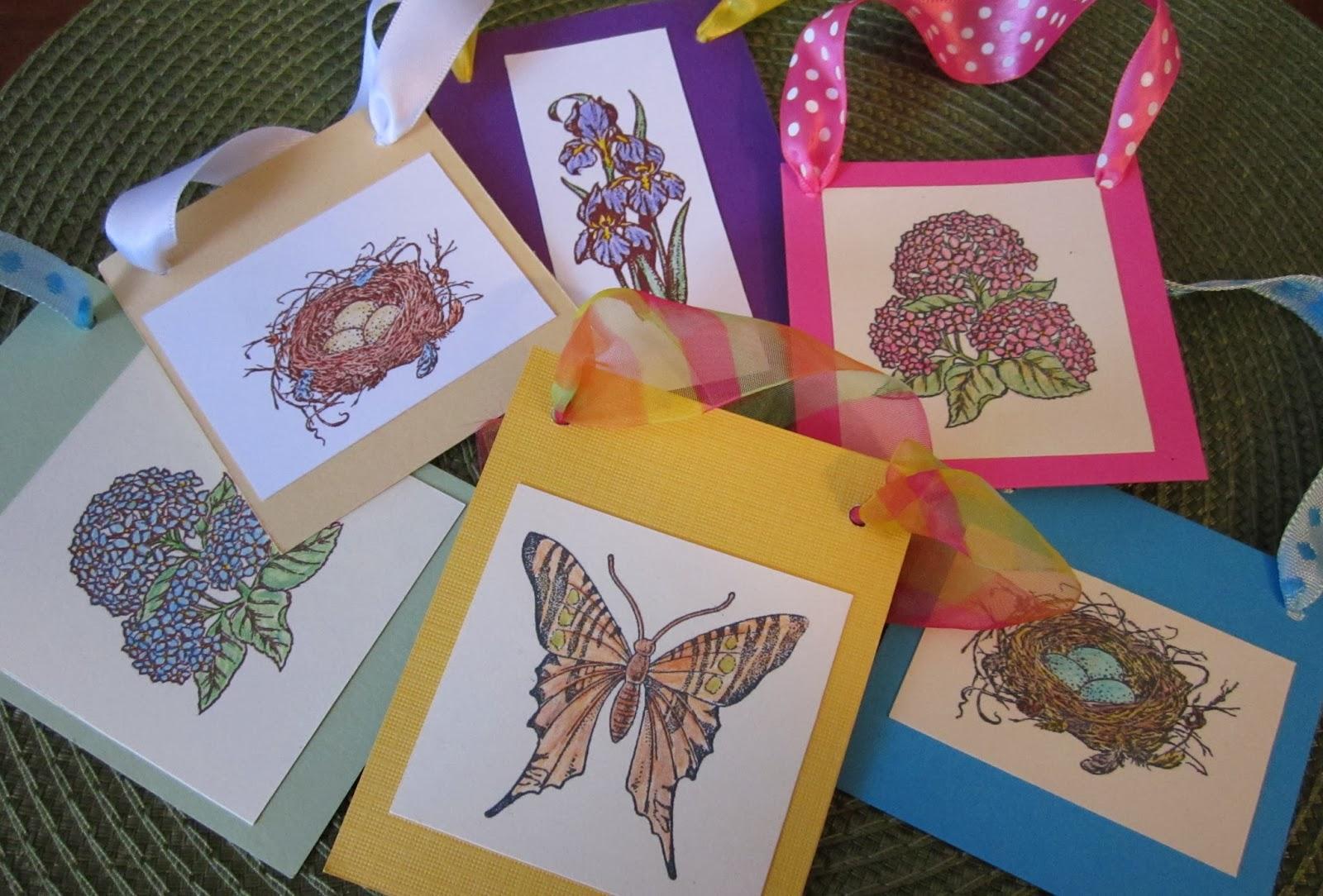 Kathleen Berlew - Stamped Spring Gift Tags