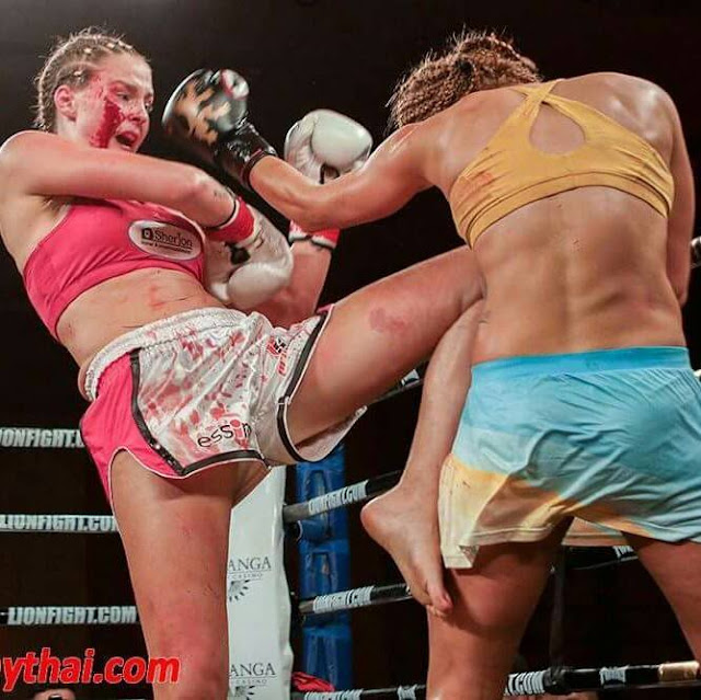 Jorina Baars muay thai muaythai thai boxing netherlands Lion fight Martina Zinkova