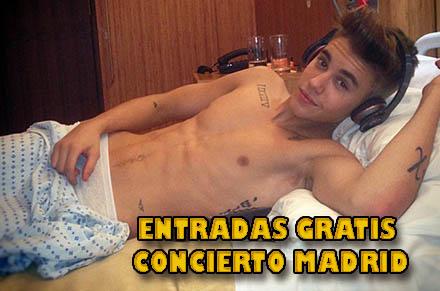 Entradas gratis concierto Justin Bieber Madrid