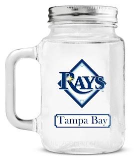 Tampa Bay Rays MLB Mason Jar
