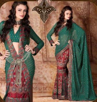 Bridal-Lehenga-Saree-Styles