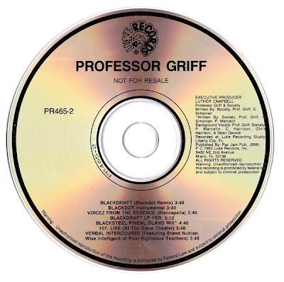 Professor Griff – Blackdraft (Promo CDS) (1993) (320 kbps)
