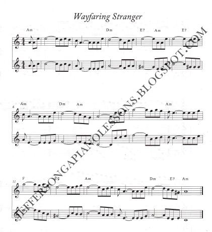 jefferson ga piano lessons: The Wayfaring Stranger arrg for Violin ...