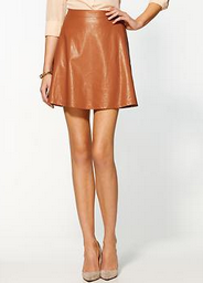 Tinley Road Vegan Leather Mini Skirt Spring Summer Runway Trends