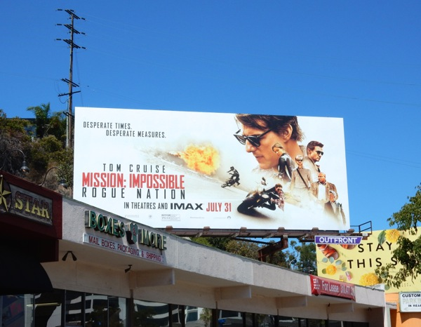 Mission Impossible Rogue Nation movie billboard