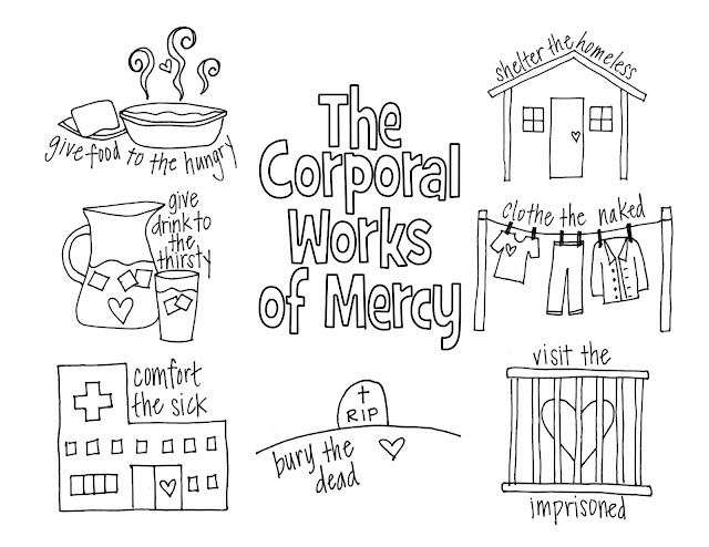 works of mercy coloring pages - photo#2