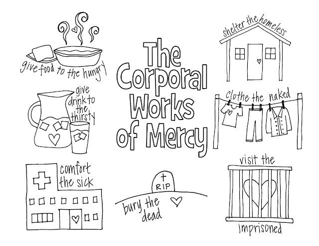 corporal works of mercy worksheet