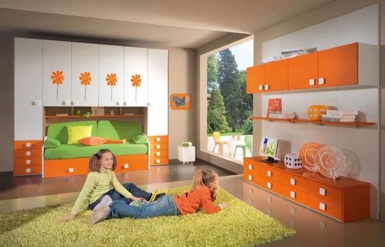 Kids bedroom ideas with colors and furniture choice