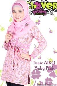 Clover Clothing Blus Aiko - Baby Pink (Toko Jilbab dan Busana Muslimah Terbaru)