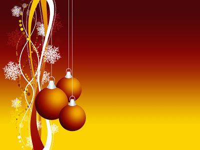Papel de Parede Bola de Natal Laranja