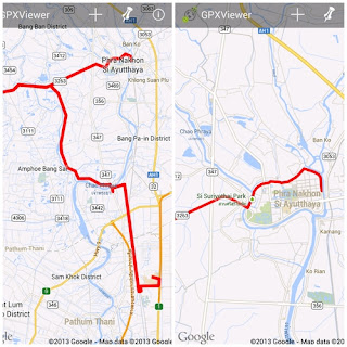 App GPX viewer, cycling route