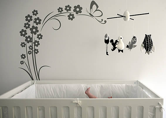 Wall stickers home wall decor ideas for Baby nursery wall decoration
