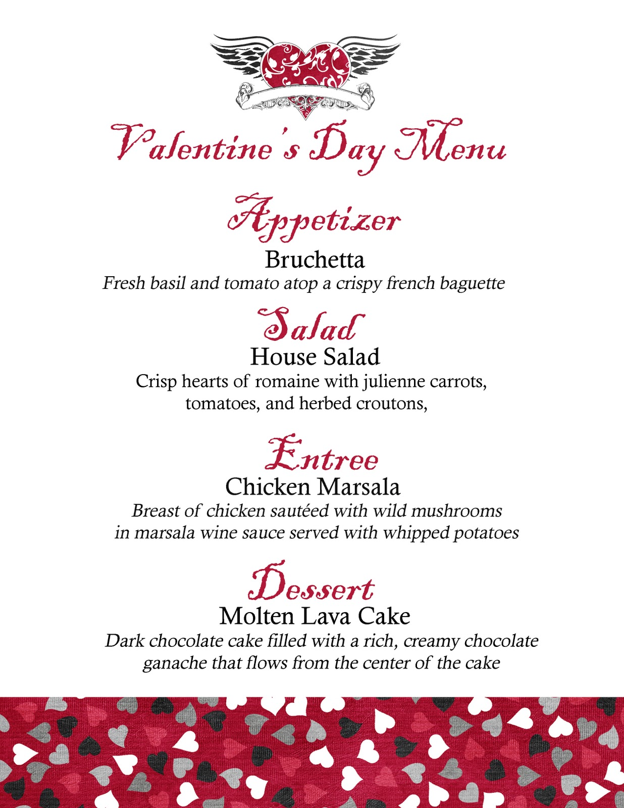 jennifer jensen  valentine u0026 39 s day menu