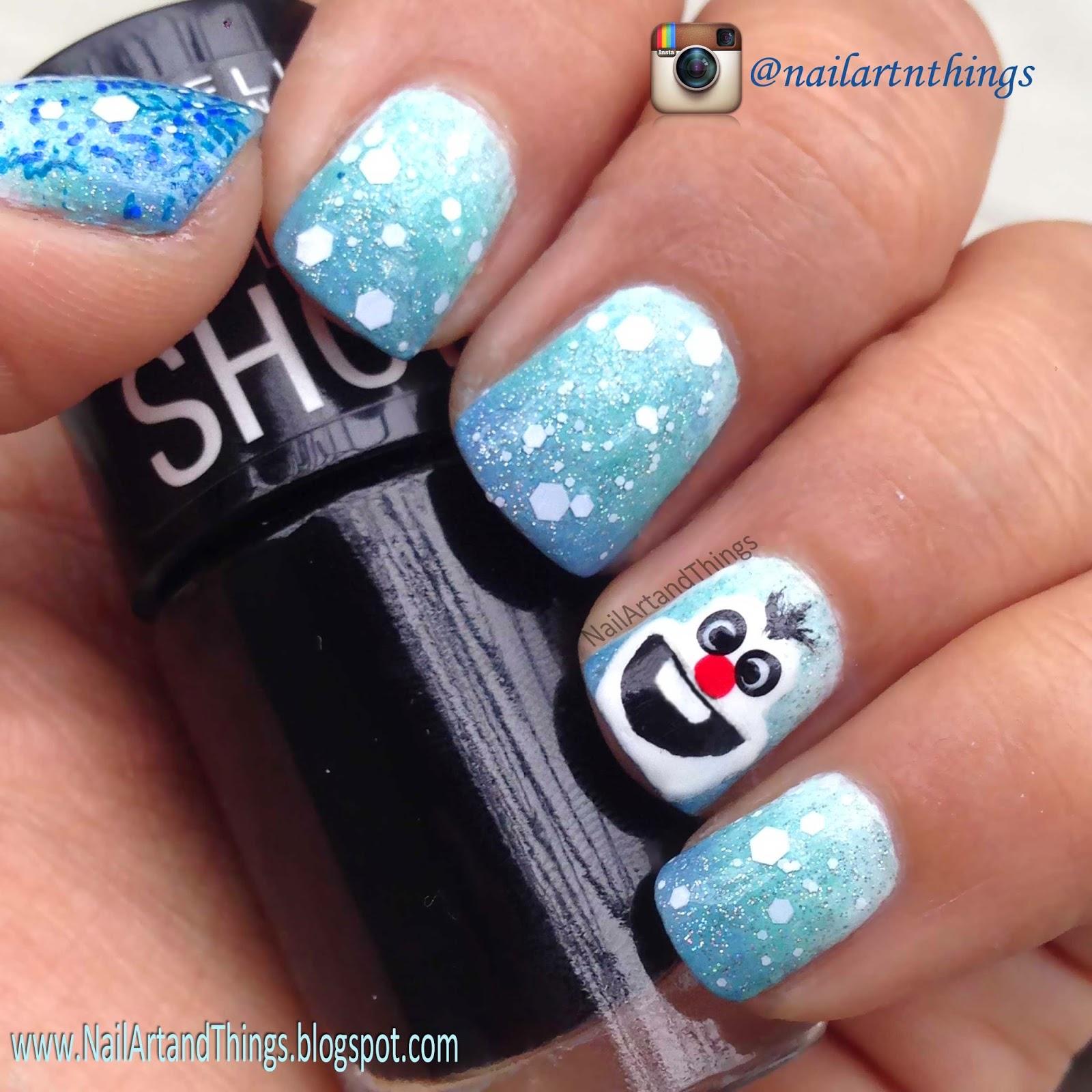 NailArt and Things: Frozen Movie Nail Art ft. Olaf