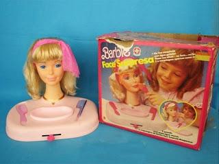 brinquedos anos 90 barbie face