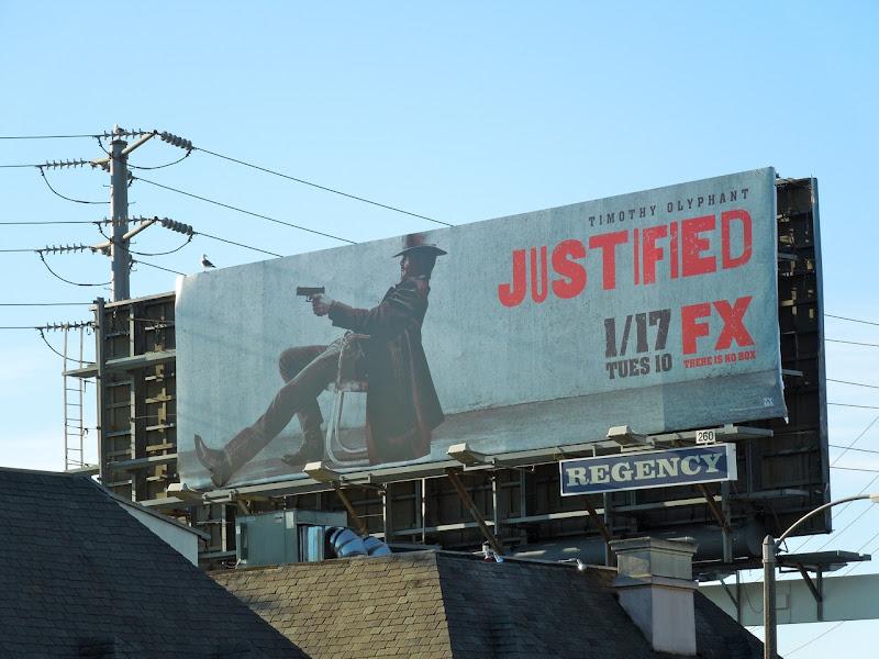 Season 3 Justified billboard