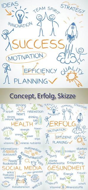 Concept Erfolg Skizze Sucess Sketch Health