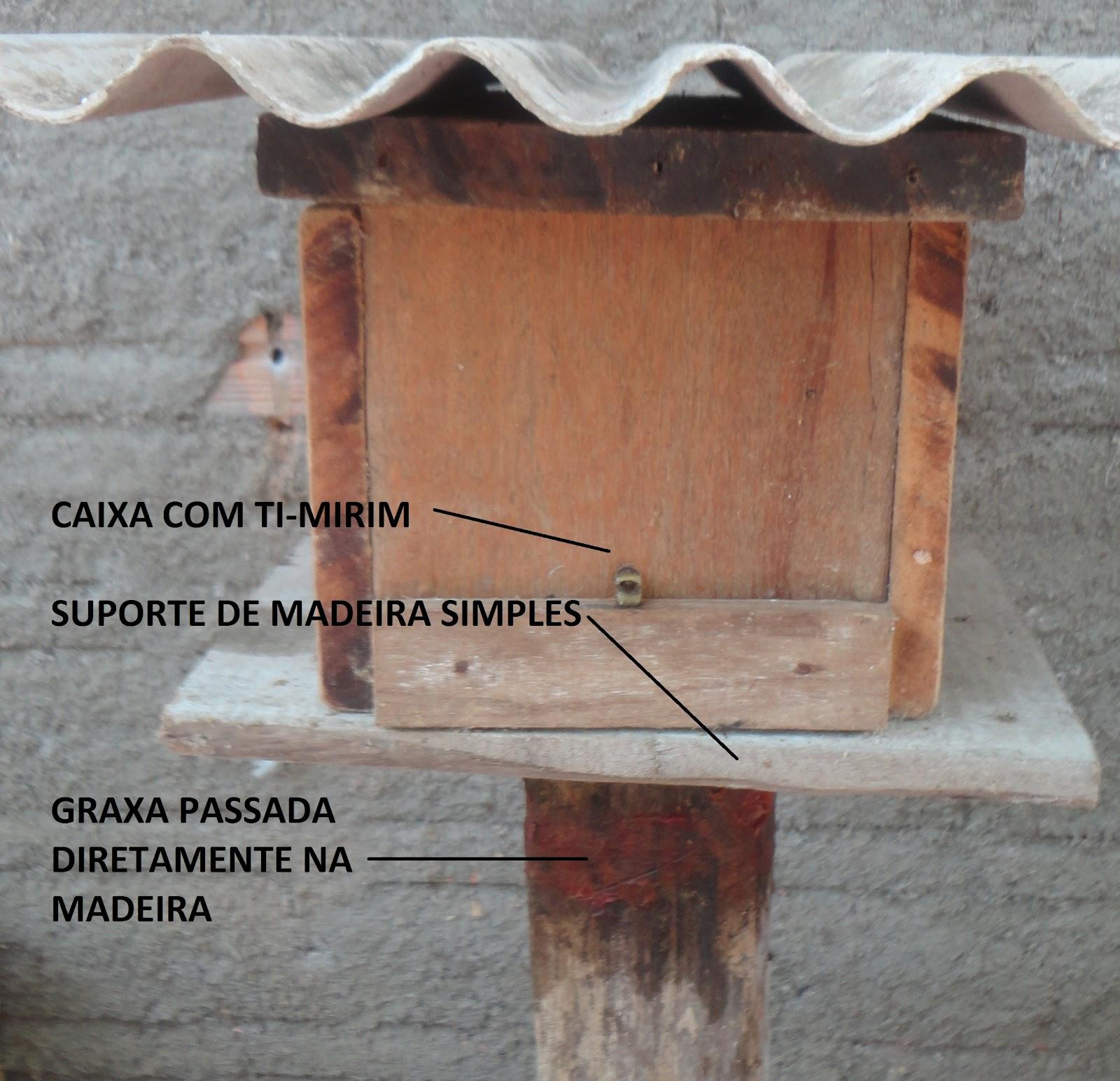 Maneira fácil de evitar formigas em caixa de abelha. #8A5B41 1600x1544