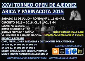 XXVI TORNEO OPEN DE AJEDREZ ARICA Y PARINACOTA 2015