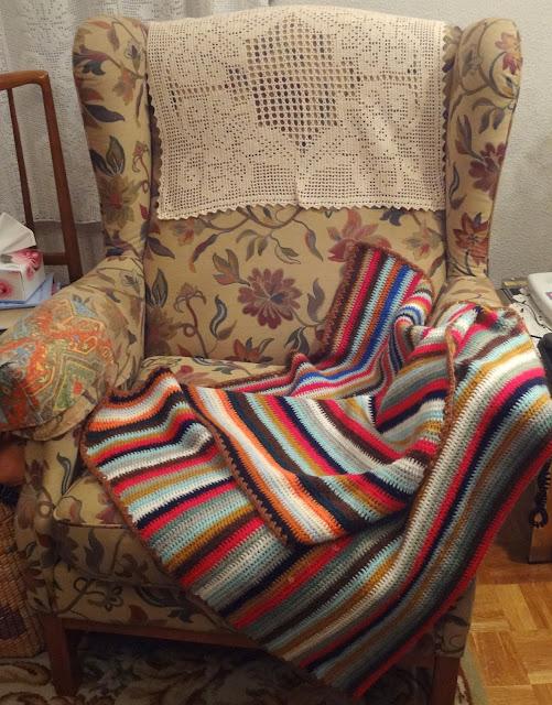 Bordados ganchillo y punto mantas de lana for Mantas de lana de colores
