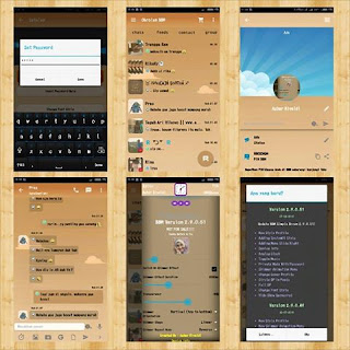 BBM Simple Brown Base 2.9.0.51 + New Feature Style Profile