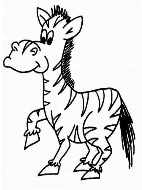 Kids Page Zebra Coloring Pages