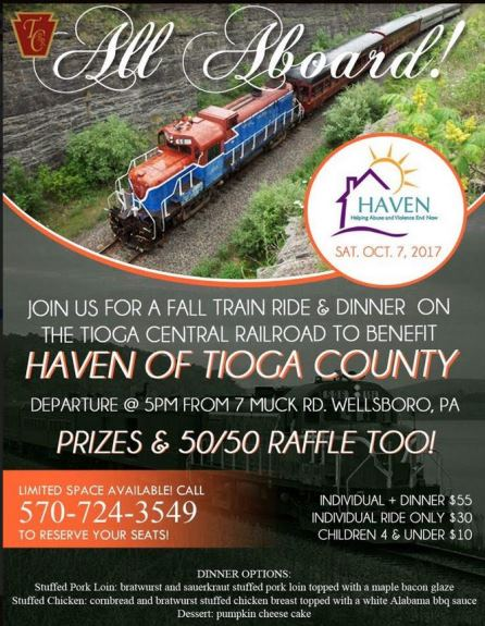 10-7 Fall Train Ride Benefits Haven Of Tioga