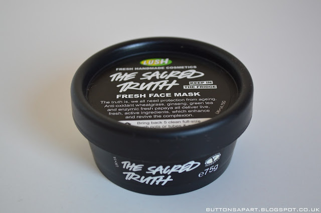a picture of lush the sacred truth face mask