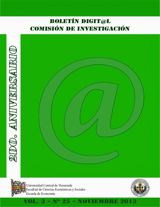 Boletín FCE.UCV: nov. 2013
