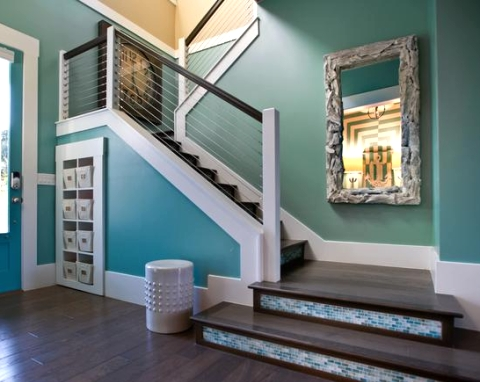 blue walls in foyer HGTV Home
