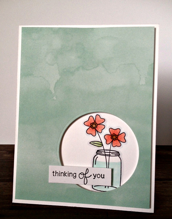 Thinking of you Flower Card by Jamie Green for Newton's Nook Designs | Versatile Vases