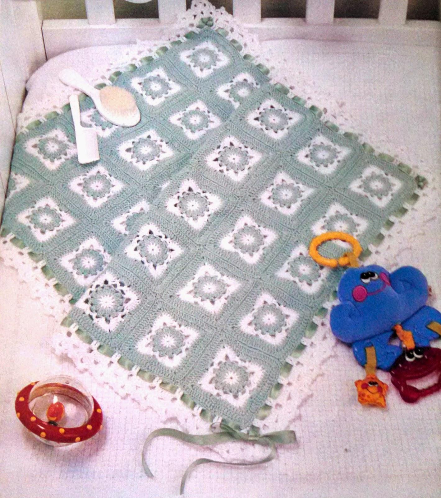 Manta para bebe con granny 39 s crochet para ti - Manta de bebe a ganchillo ...