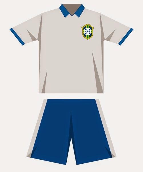 Los Uniformes de las Selecciones del Mundial Brasil 2014, Brasil, I Parte