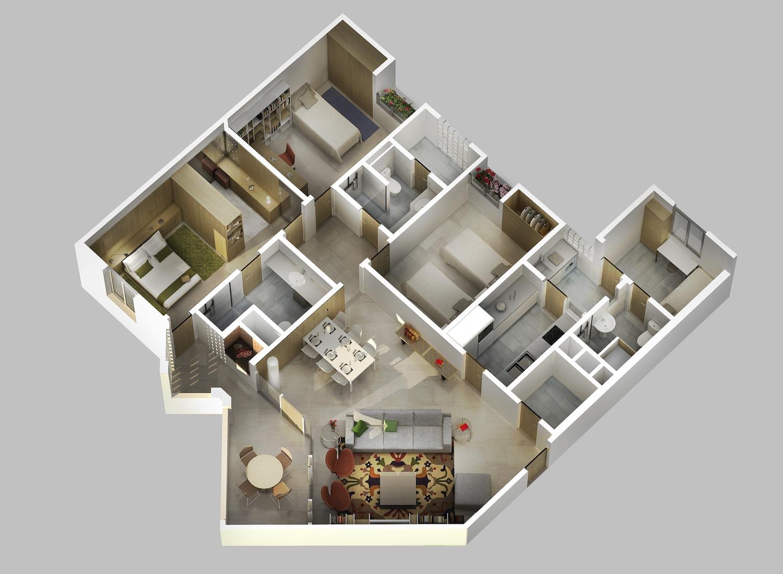 Arquitectura arquidea complejo residencial en paraguay for Planos de casas modernas en 3d