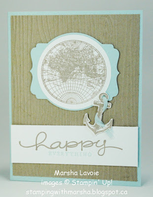 the open sea and happy everything stampin up