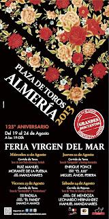 Almería Feria 2013 - Cartel Taurino