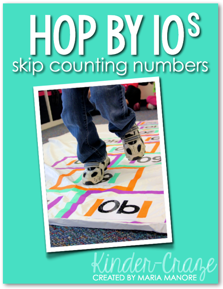 FREE skip count by 10 number set
