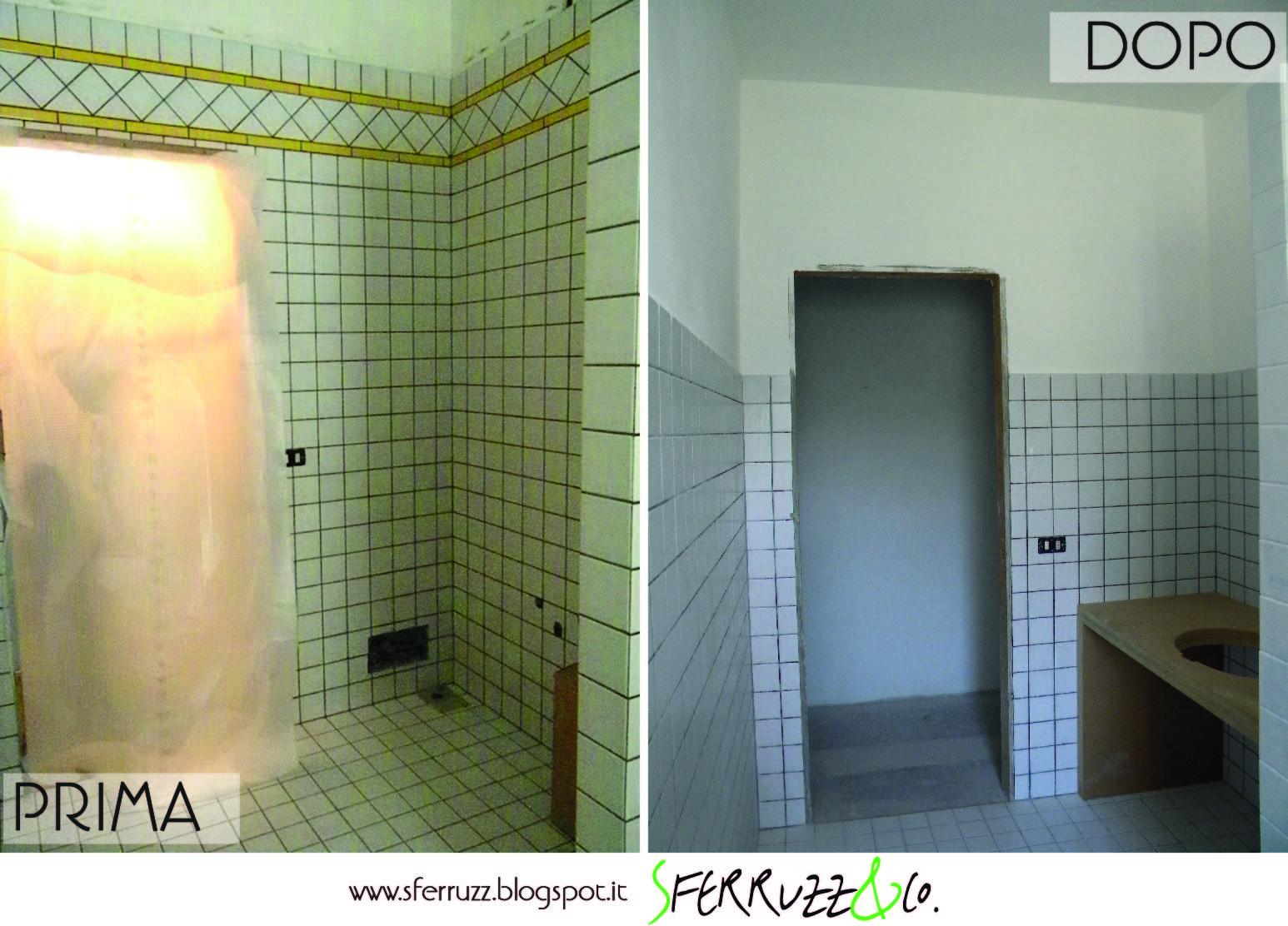 """Sferruzz&Co: T.G.House/""""Il Bagno Blu"""" makeover parte 1/Togliere le piastrelle e tinteggiare"""