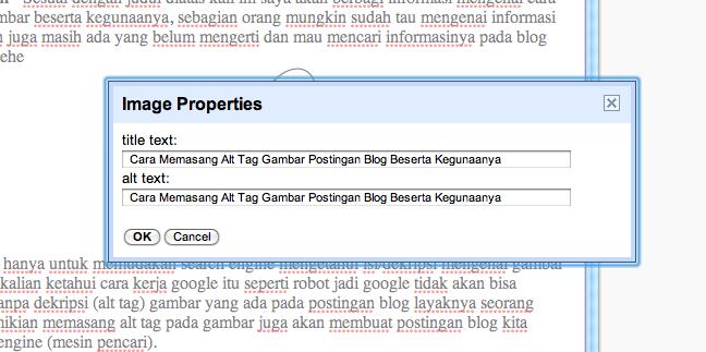 Cara Memasang Alt Tag Gambar Postingan Blog Beserta Kegunaanya