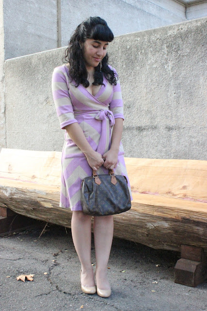 What to Wear with a Chevron Print Wrap Dress
