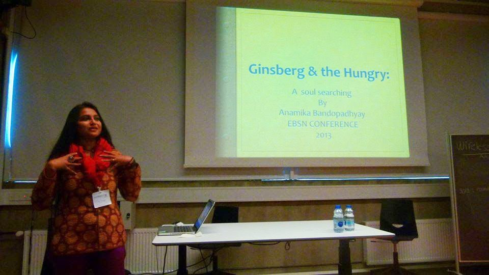 Anamika Bandopadhyay delivering a lecture in Denmark