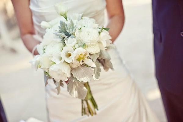 """Hoa cưới đẹp 1 màu """" ton sur ton"""" không hề đơn điệu2"""