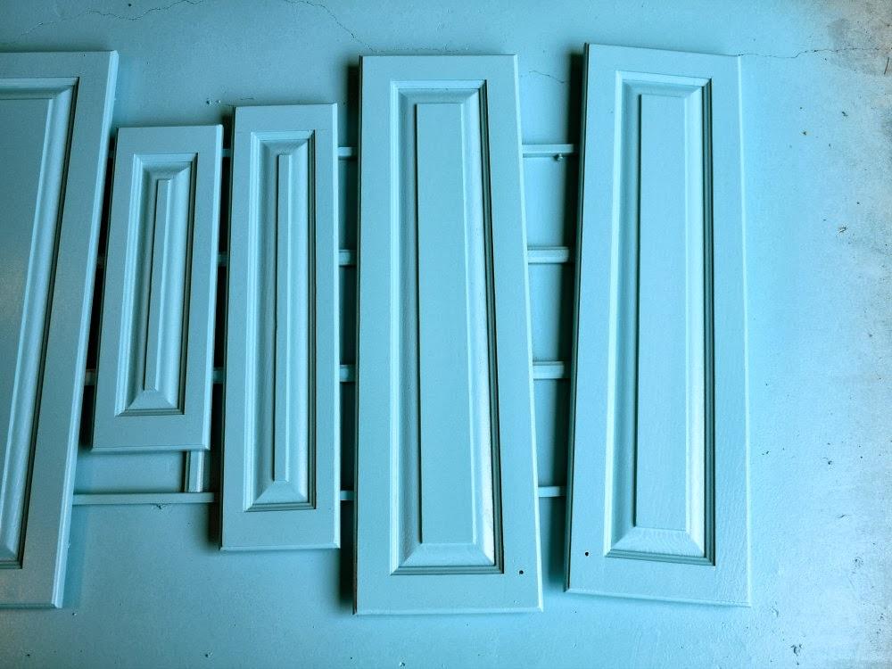 Aqua cabinet doors!