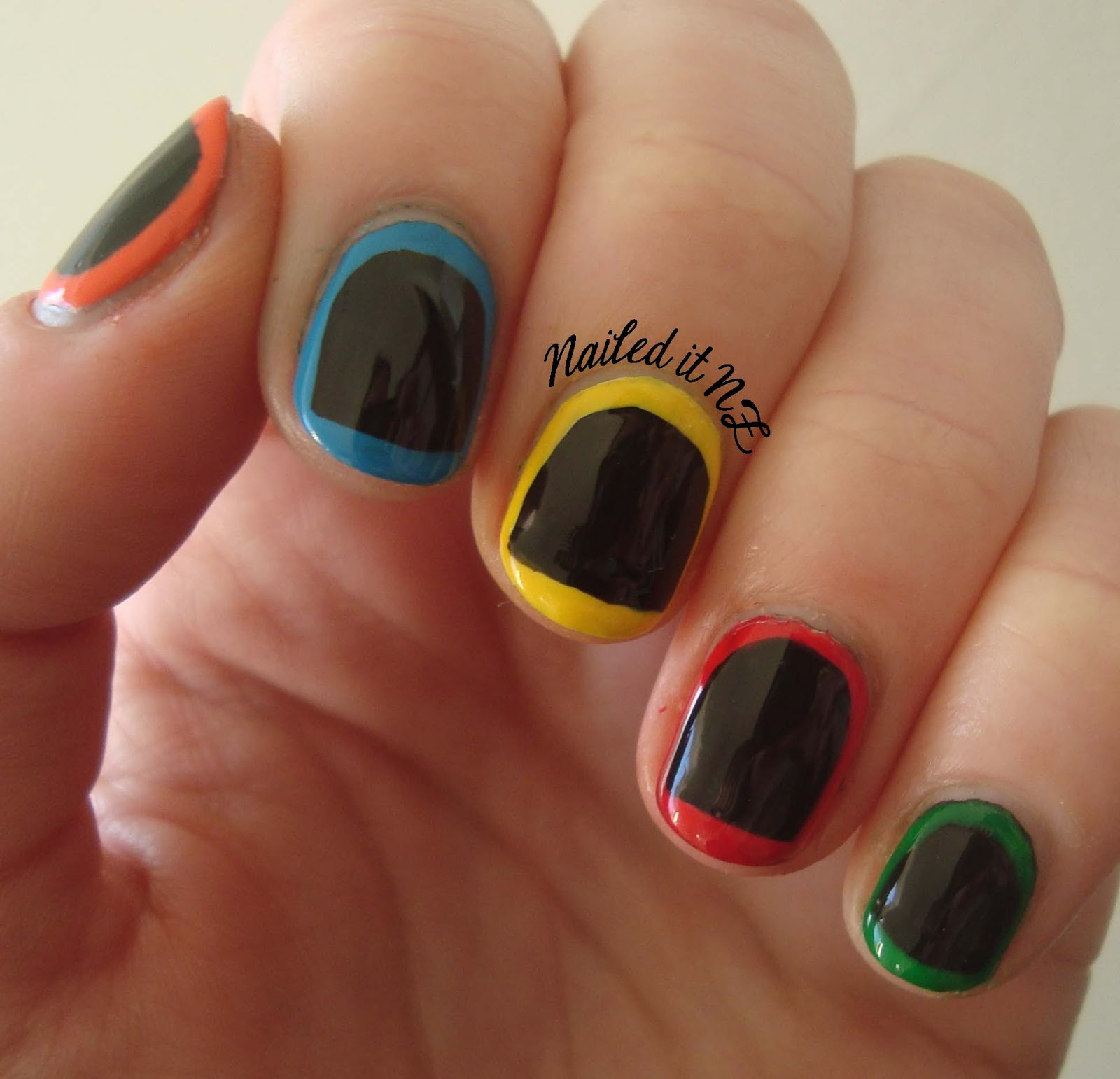 Nail Art For Short Nails At Home: Nail Art For Short Nails #2: Guitar Hero Nails