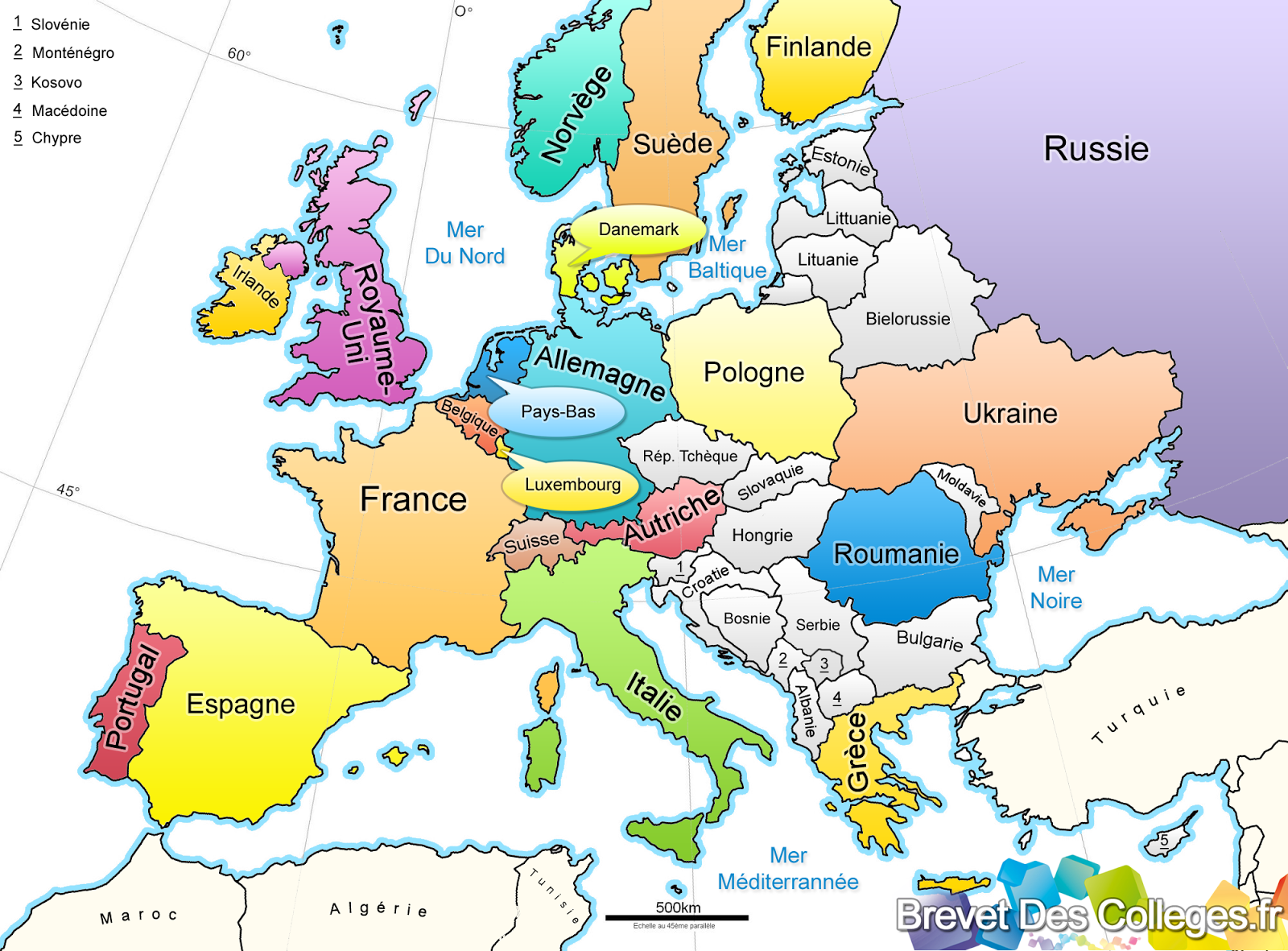 La Lituanie   Carte Europe
