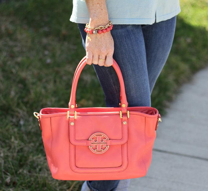 Boden, Loft, Tory Burch, Tory Burch handbag, Prada, Stella Dot, Michael Kors, Simply Lulu Design, Simply Lulu Style, sundance catalog, LosPhoto, mint and coral, statement earrings, statement jewelry