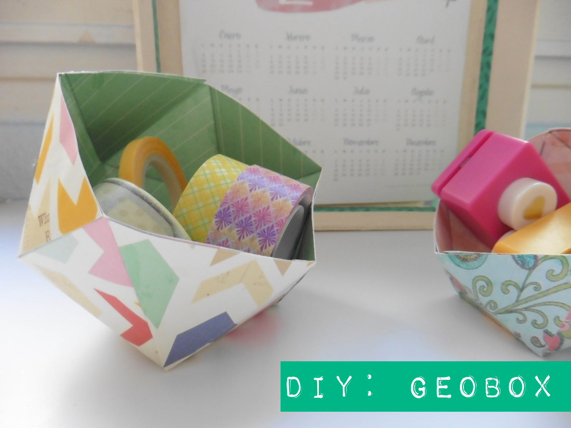 Recetas f ciles manualidades y diy geobox una caja de - Como hacer cajitas de cartulina ...